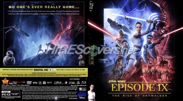Star Wars Episode Ix The Rise Of Skywalker 2019 Custom Blu Ray Cover Custom Dvd Star Wars Episodes Star Wars Dvd