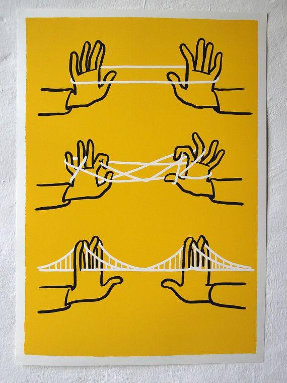 Christoph Niemann's Brooklyn Bridge print