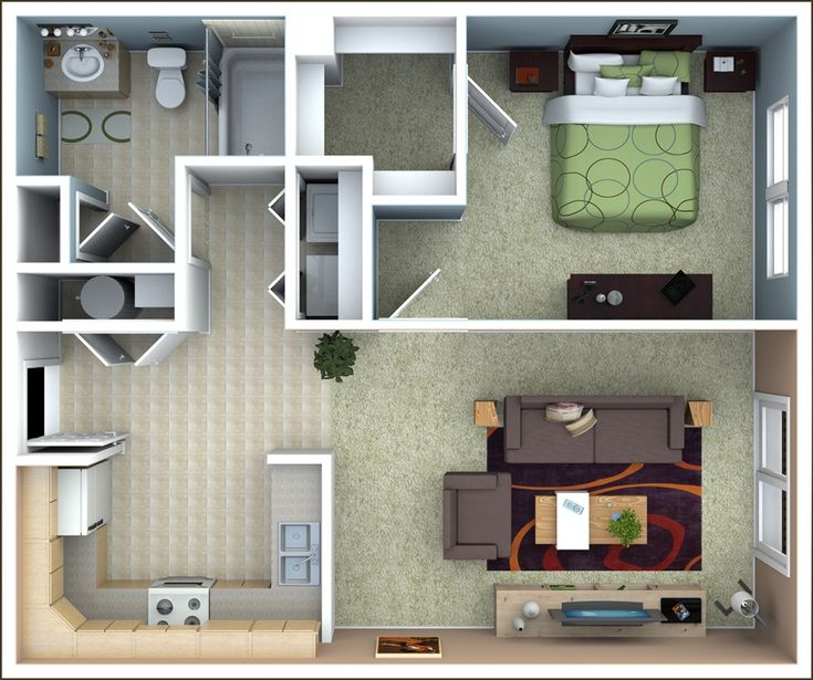 Apartment For Rent London Ontario: Floor Plans For 1 Bedroom Apartments