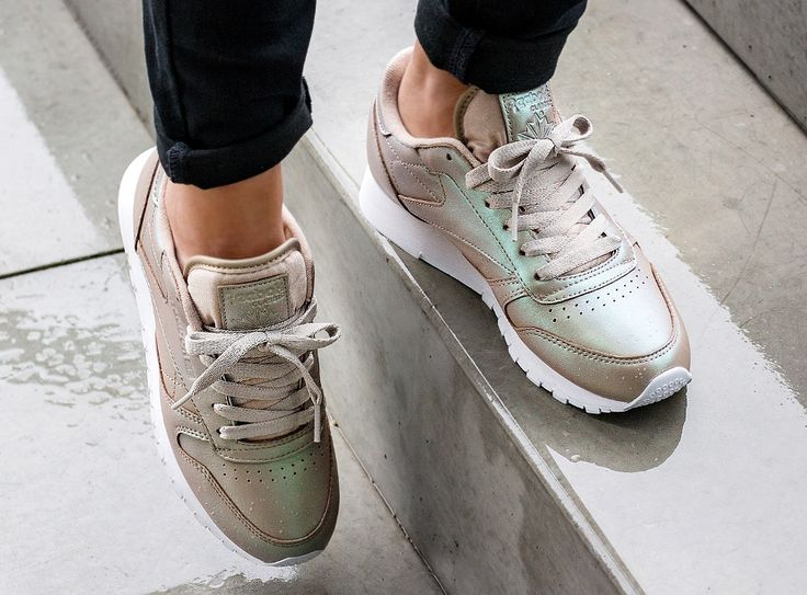 Pearlized Leather Classic Reebok ChampagneShoes ChaussureMode 7vgIyf6Yb