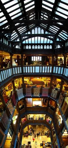 The amazing interior of Liberty of London.  So beautiful!