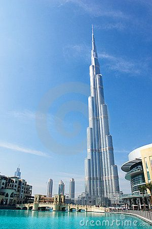 Simply amazing. Tallest building in the world.  Burg Khalifa in Dubai