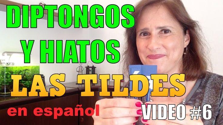 """El uso de las tildes en español (parte 6) - Diptongos y """"¡ Francamente! Cursos de esta calidad, son una fuente mágica de progresión única. ¡ Gracias muchísimo profesora muy querida!""""Hiatos (con tilde)"""