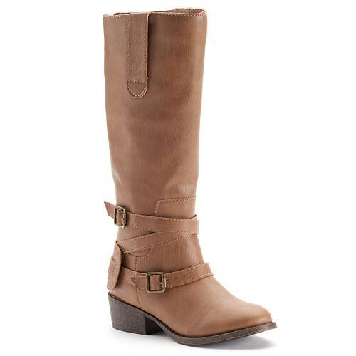 Candies Girls Studded Tall Riding Boots in Brown .  At Kohl's