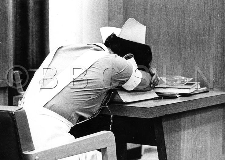 Student Nurse at a desk, School of Nursing, University of Pennsylvania, 1970. Image courtesy of the Barbara Bates Center for the Study of the History of Nursing.