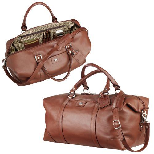 Cadeaux Tendance - Sac de voyage en cuir brun Cutter