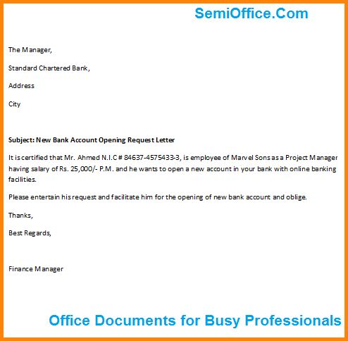 bank pass book letter format account opening request cover letters - bank fürs badezimmer