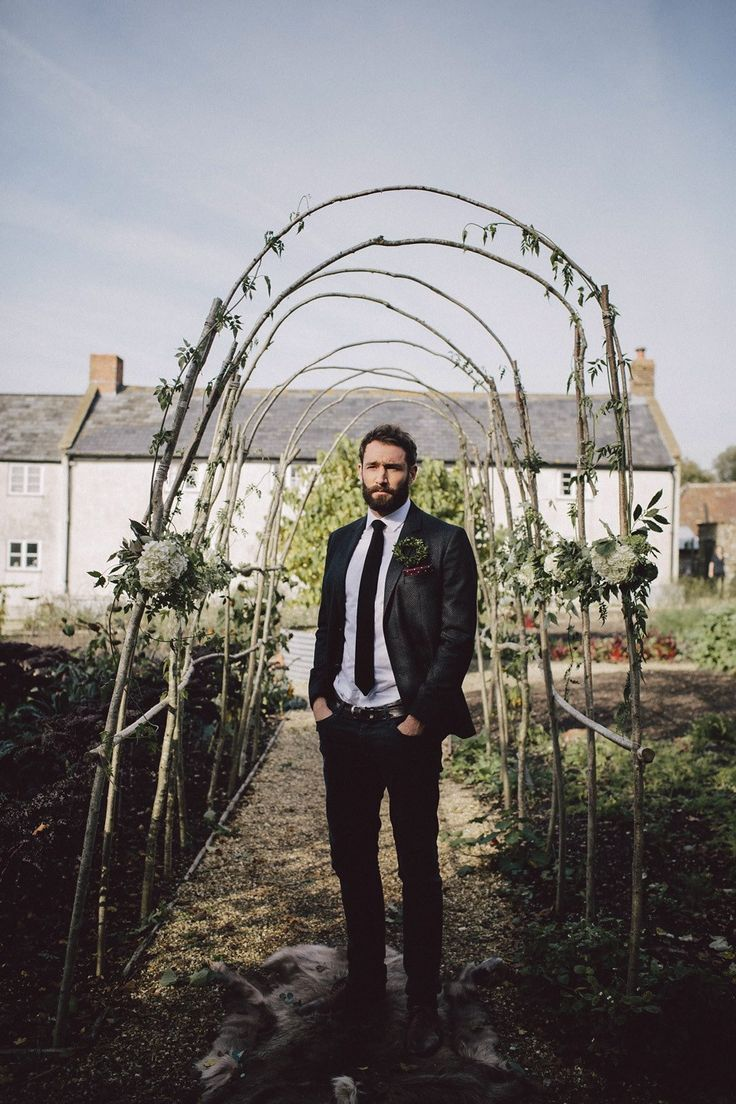Boho luxe wedding inspiration at River Cottage HQ in Devon, a beautiful wedding…