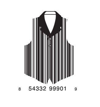 tuxedo barcode #design