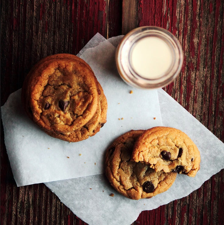 Soft & Chewy chocolate chip cookies. This recipe uses a couple ...