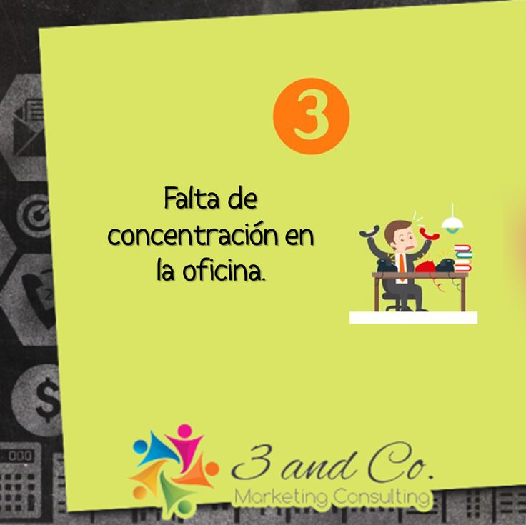 Falta de concentración en la oficina. #marketing #empresas #oficina