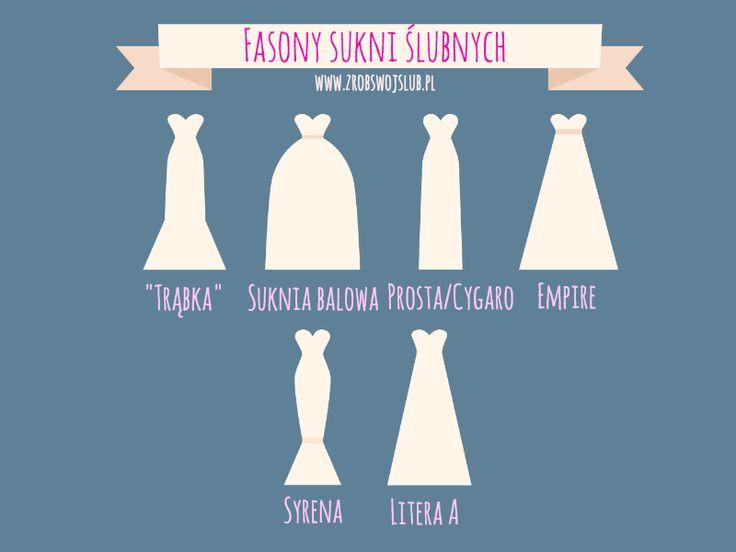 Fasony sukni ślubnych