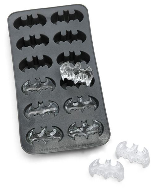 Batman Ice Cube Tray. Here's a fun geek party trick: Freeze tonic water in your Batman Ice Cube Tray. The quinine in tonic water will cause the bats to glow blue under black light.