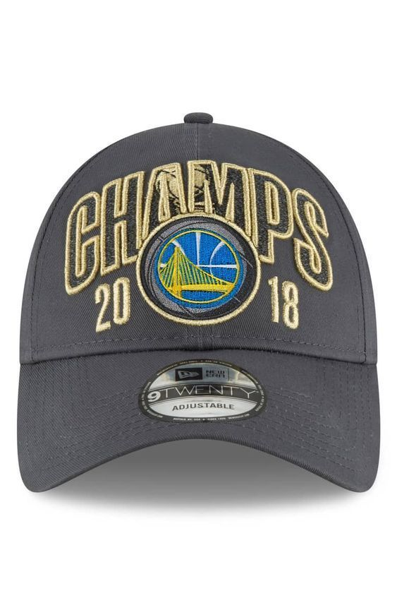 New Era Golden State Warriors 9Twenty 2018 Champs Hat Adjustable OSFM  Gray Gold  NewEra  BaseballCap  GoldenStateWarriors 7224f96b3
