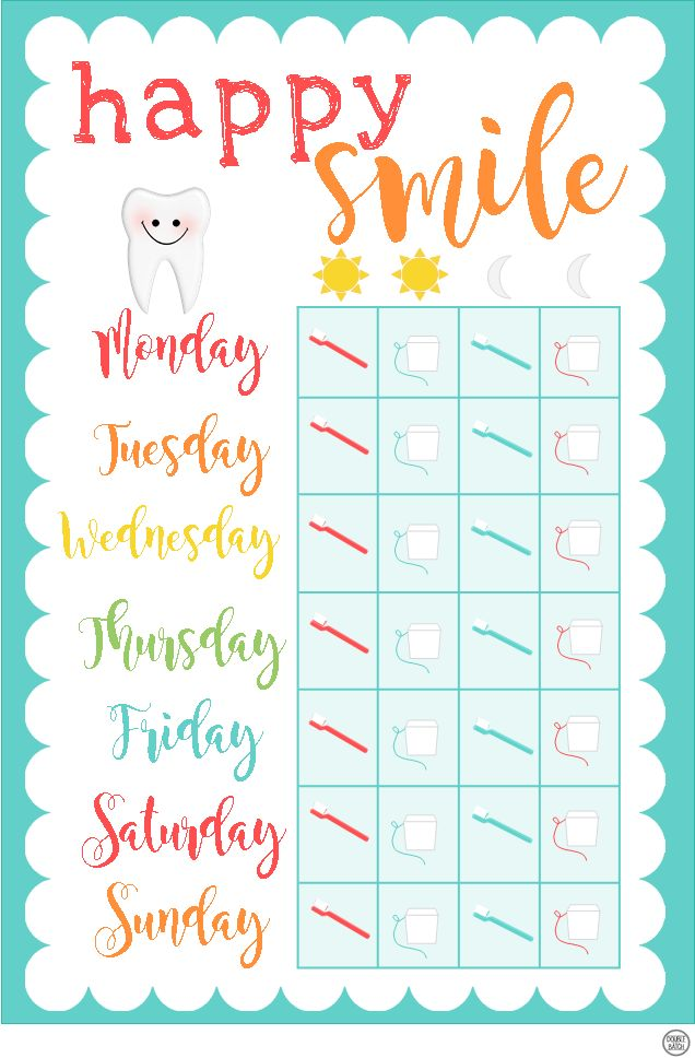 Influential image inside printable tooth brushing chart