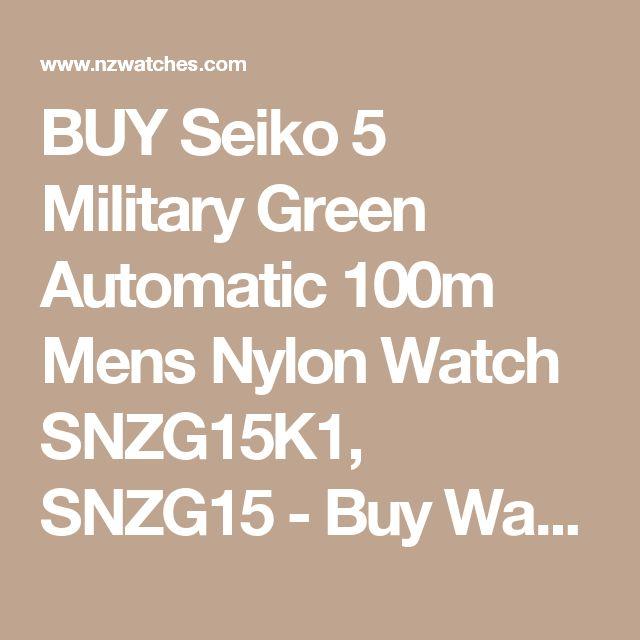 BUY Seiko 5 Military Green Automatic 100m Mens Nylon Watch SNZG15K1, SNZG15 - Buy Watches Online | SEIKO NZ Watches