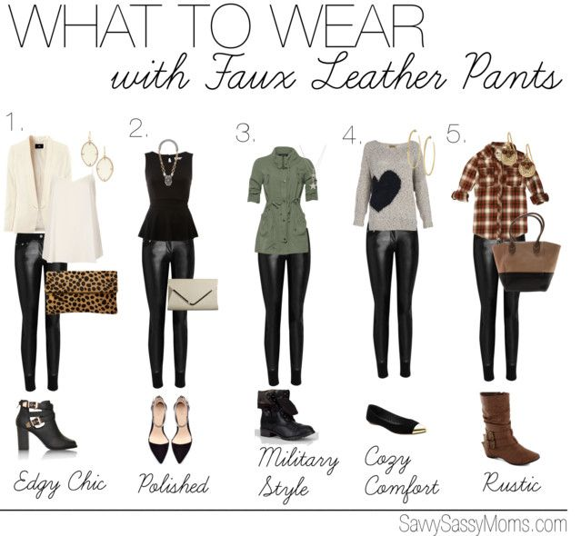 What To Wear With Leather Leggings On A Night Out