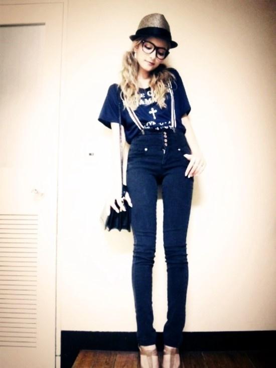 ローラ t-shirt: japanese brand, moussy & hat: vintage & bag: topshop