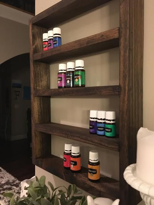 Essential Oil Shelf Essential Oil Display by DropitLikeitsOily