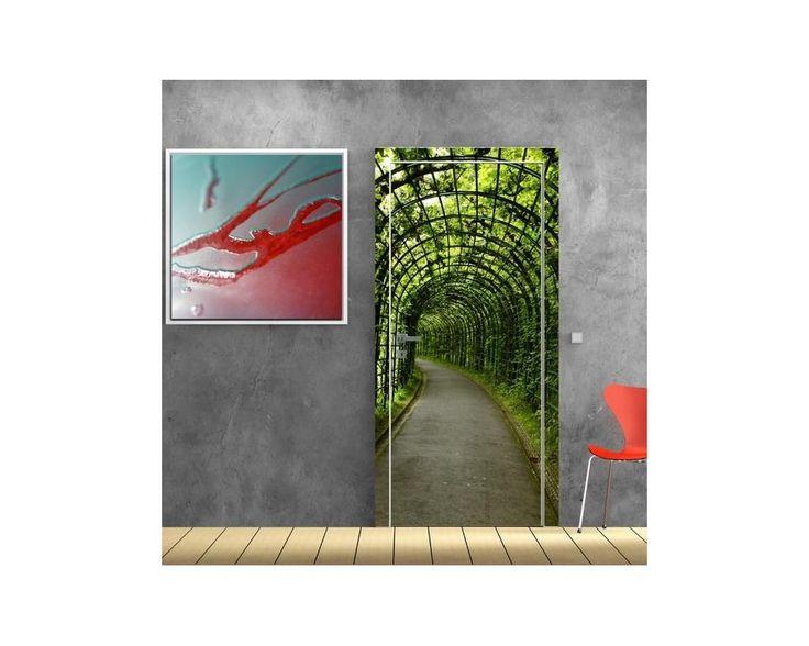 Η έξοδος στον κήπο είναι εδώ?, αυτοκόλλητο πόρτας , δείτε το!