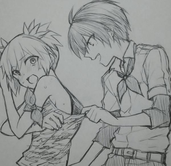 Раскраска аниме класс убийц нагиса и карма