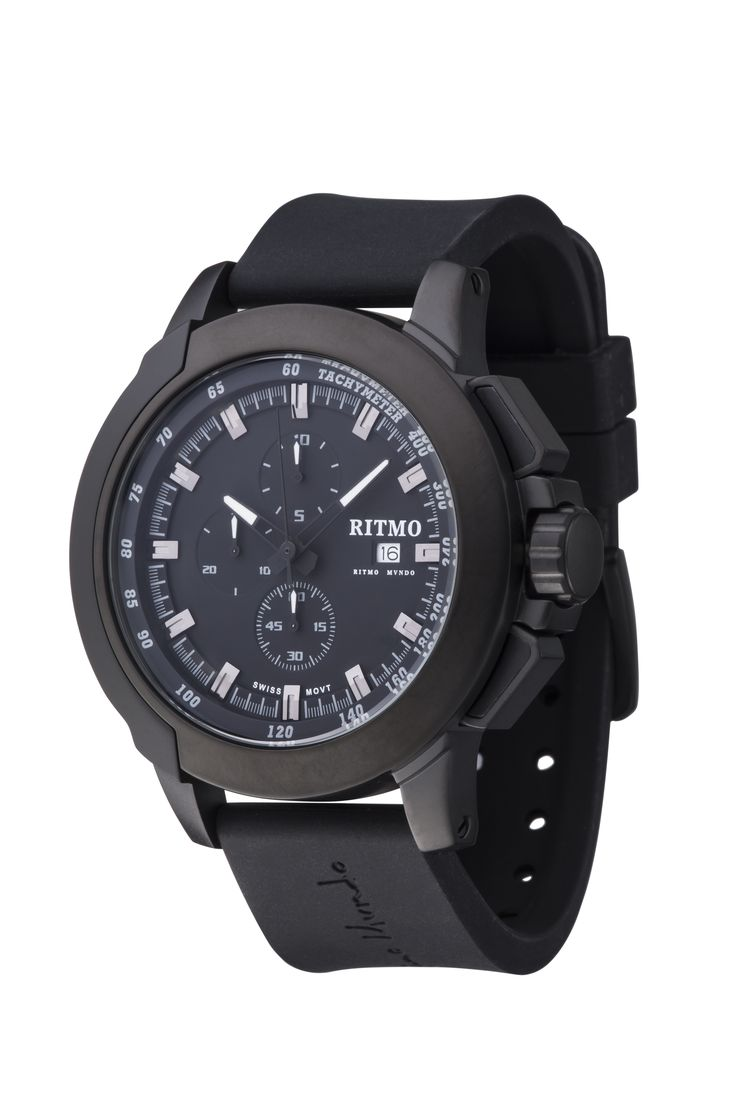 Quantum II Black 50mm Sport Swiss Chronograph