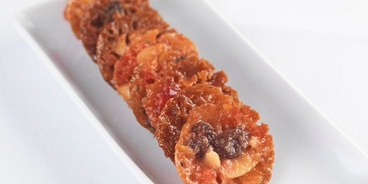 Sticky florentines make a delicious treat and Frances Atkins' florentines recipe produces biscuits that sing with the flavours of cherry, almonds and currants