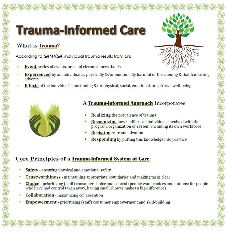 TraumaInformed Care Social Work + Counseling Resources