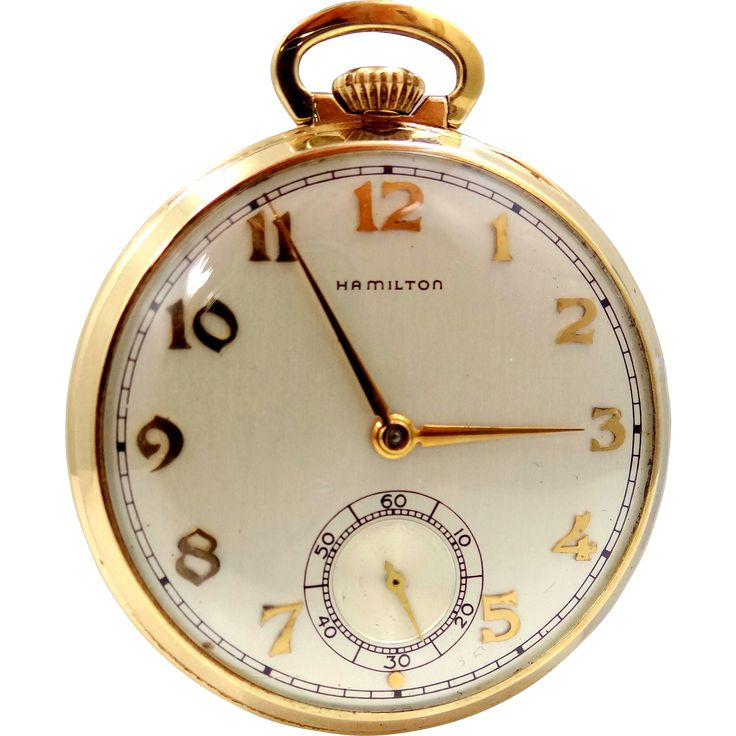 Vintage 14k Gold Hamilton Pocket Watch Model 917 17 Jewels Lukens Steel Co.