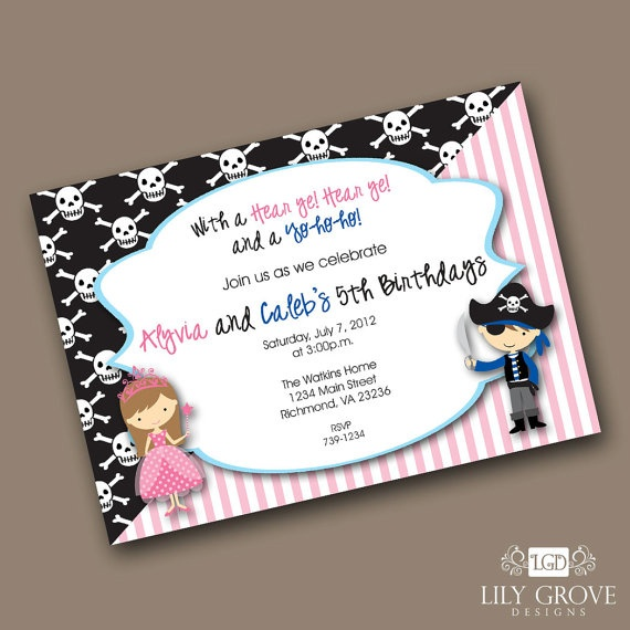 53 best Birthday Invitation Inspiration images – Princess and Pirate Birthday Invitations