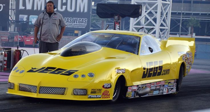 Troy Coughlin's New C-6 Pro Mod On The Track