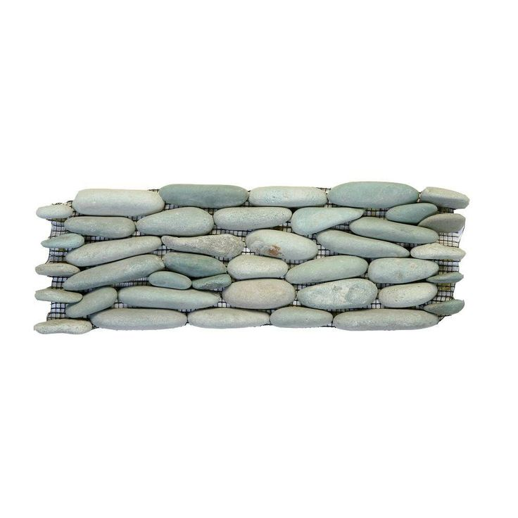 Solistone Standing Pebbles Cypress 4 In. X 12 In. Natural Stone River Rock  Wall