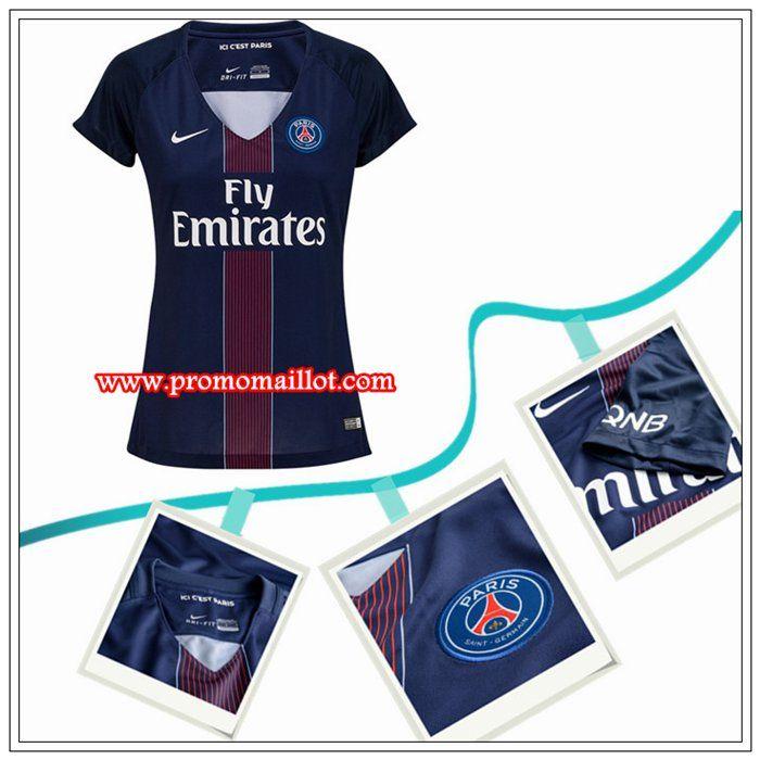 Les Plus Beaux Maillot PSG Femme Domicile Bleu Nike 2016/17 Officiel