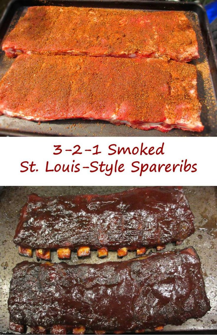 3-2-1 Smoked St. Louis-Style Spareribs
