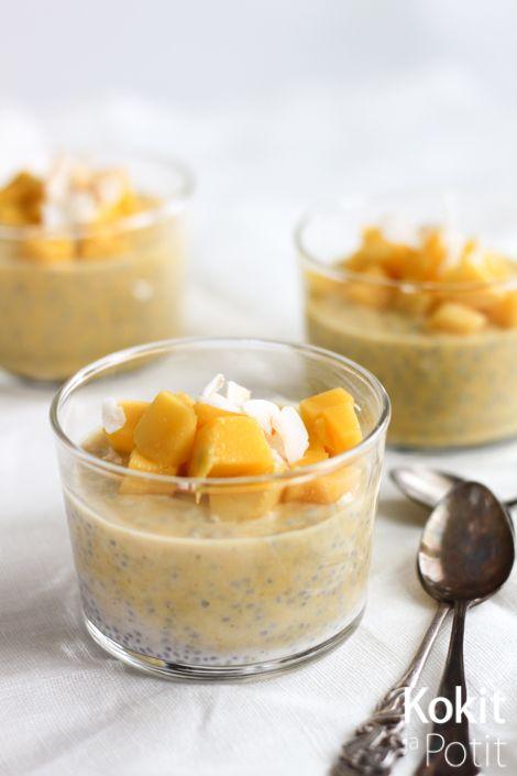 Mangoa, kookosta & chiansiemeniä - Chia seed pudding w/ mango & coconut | Kokit ja Potit -ruokablogi