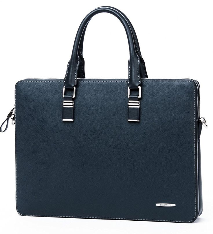BOSTANTEN Leather Briefcase Shoulder Cross-body Laptop Business Bag for Men