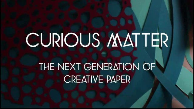 Curious Matter Making Off by Arjowiggins Creative Papers. Curious Matter is a new, patented paper that provides a tactile experience like no other.