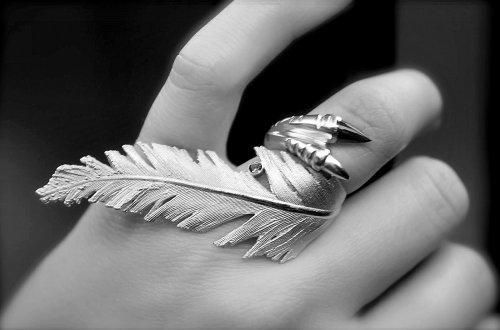 oooh: Cool Rings, Jewelry Design, Awesome, Jewellery, Jewlery, Coconut Milk, Jewels, Feathers Rings, Accessories