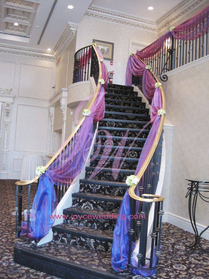 #Stair #Drapery #Decoration for #Wedding