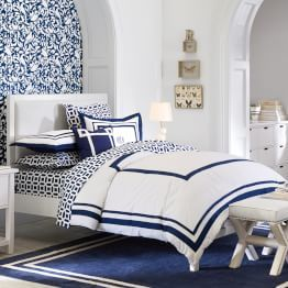 Upholstered Headboard Suite Bedroom From Pottery Barn Teen