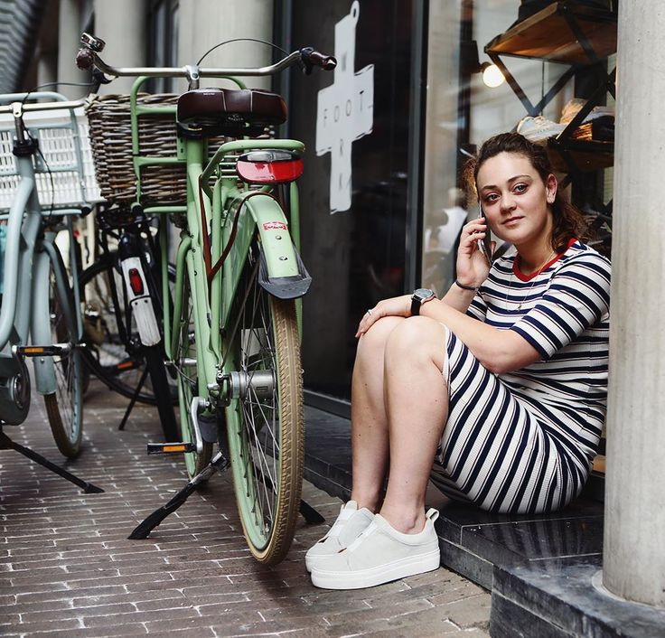 Life isn't perfect but your outfit can be. - #project365 #day154 #photochallenge #citygirl #workingirl #havingabreak #menatwork #city #statenplein #dordrecht #citybike #sparta #stripedress #airdate #fashion #style #fashionphotography #streetphotography #portraitphotography #photographer #dk_photography #geefjeookop #fotoshoot #portraitinthecity