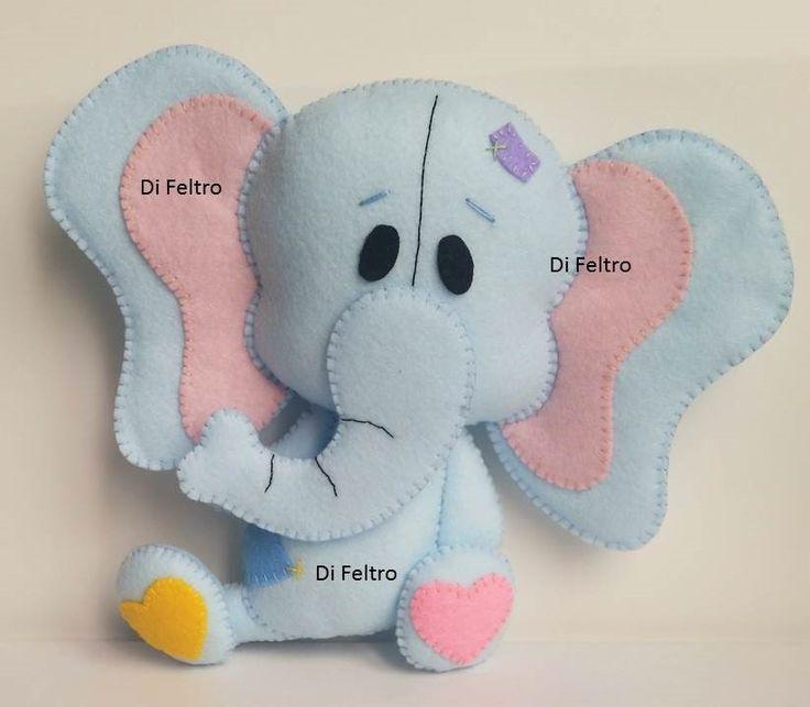 Personagem Elefantinho da Apostila Di Feltro - Bichinhos Baby