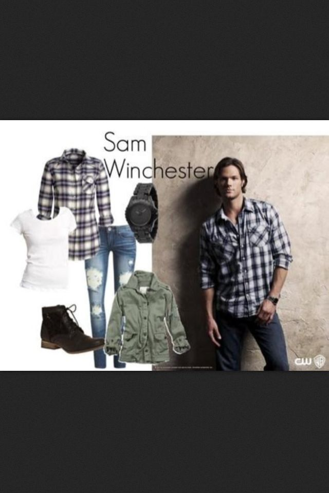 Supernatural Sam Winchester Girls Outfit... Lea, we have found our calling!