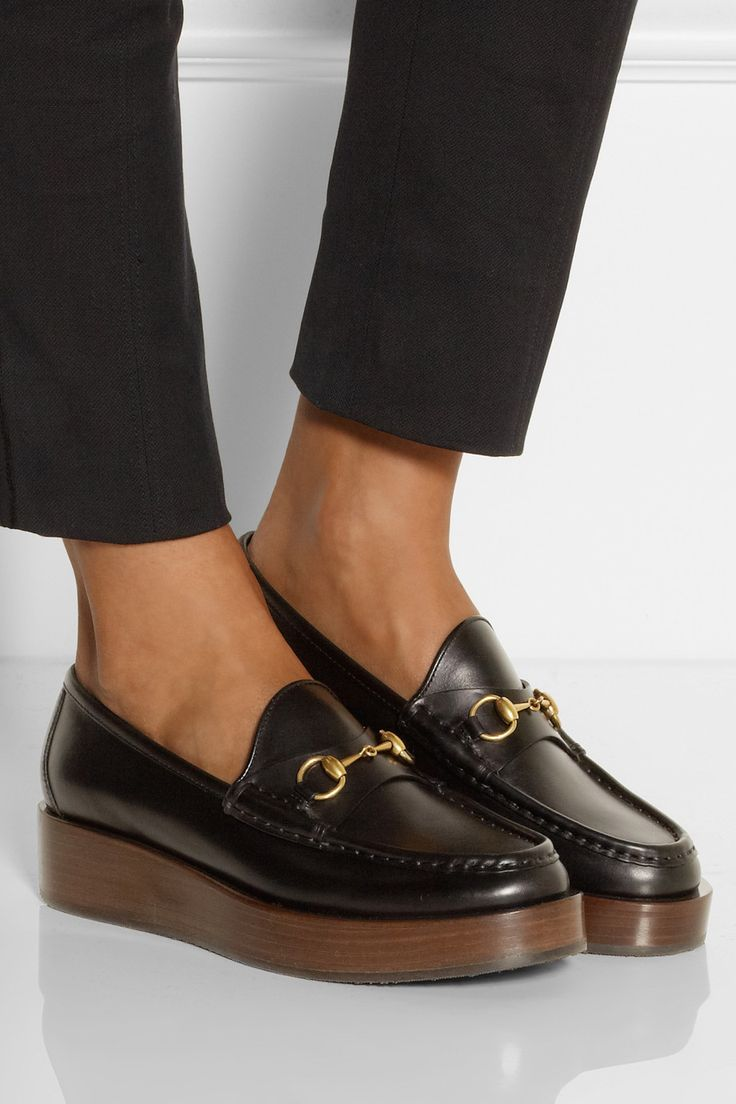 just the apple of my eye..... Gucci | Horsebit-detailed platform leather loafers | NET-A-PORTER.COM