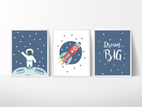 3 Affiches Espace Affiche Scandinave Illustrations par KaritasDesign