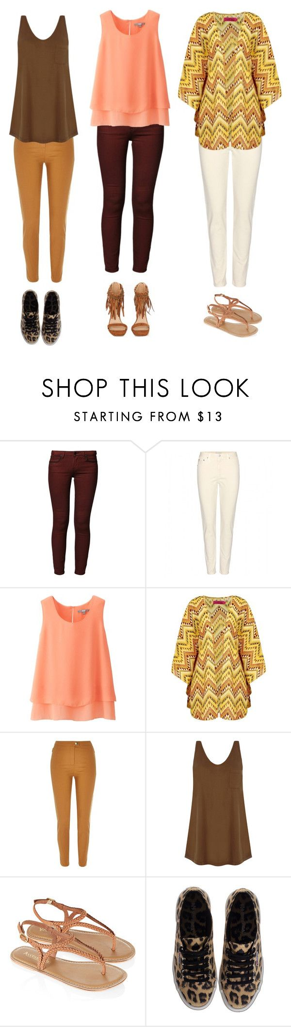 """""""SS15 colour trends"""" by kettlewellcolours ❤ liked on Polyvore featuring Lee, AG Adriano Goldschmied, Uniqlo, River Island, Warehouse, Monsoon, Superga and Missguided"""