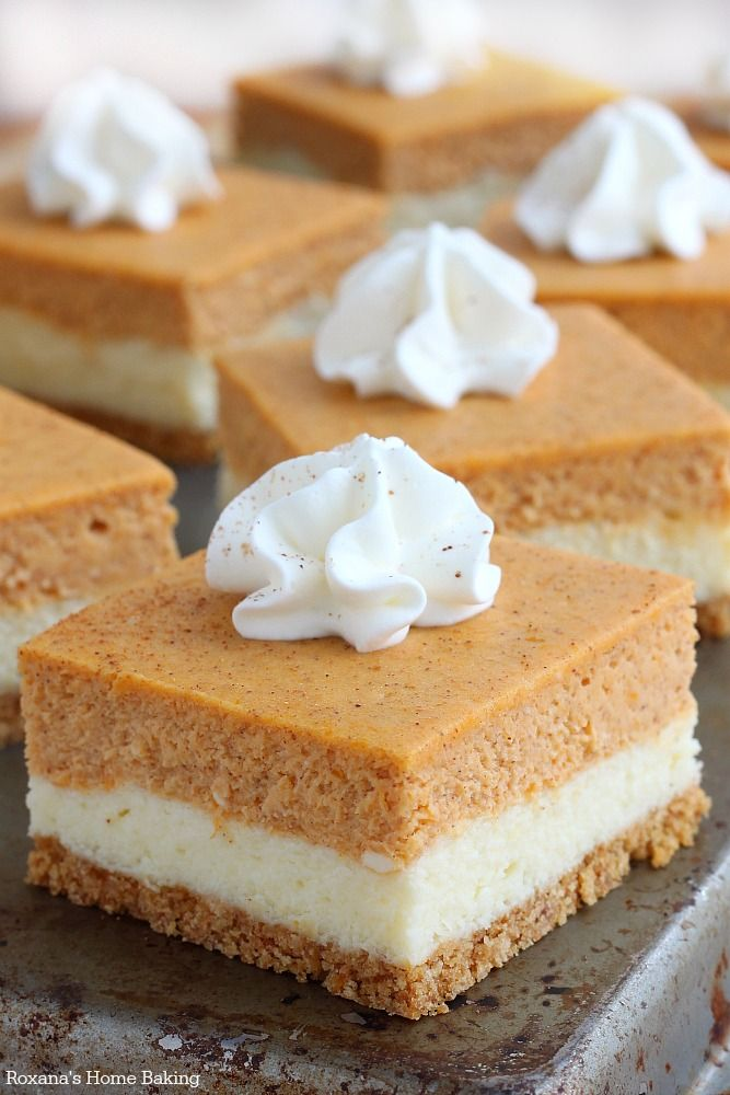 pumpkin cheesecake bars recipe 2