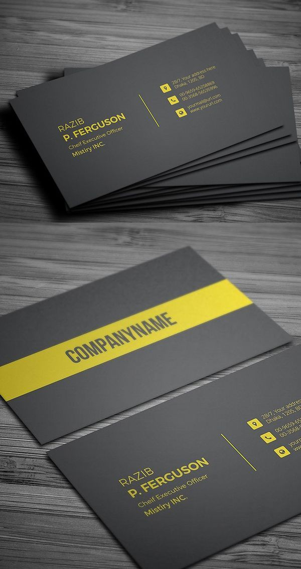 Best Business Cards Images On Pinterest Business Card Design - 2 sided business card template