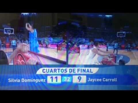 Silvia Domínguez hace sufrir a Jaycee Carroll en el concurso de triples   Baloncesto femenino