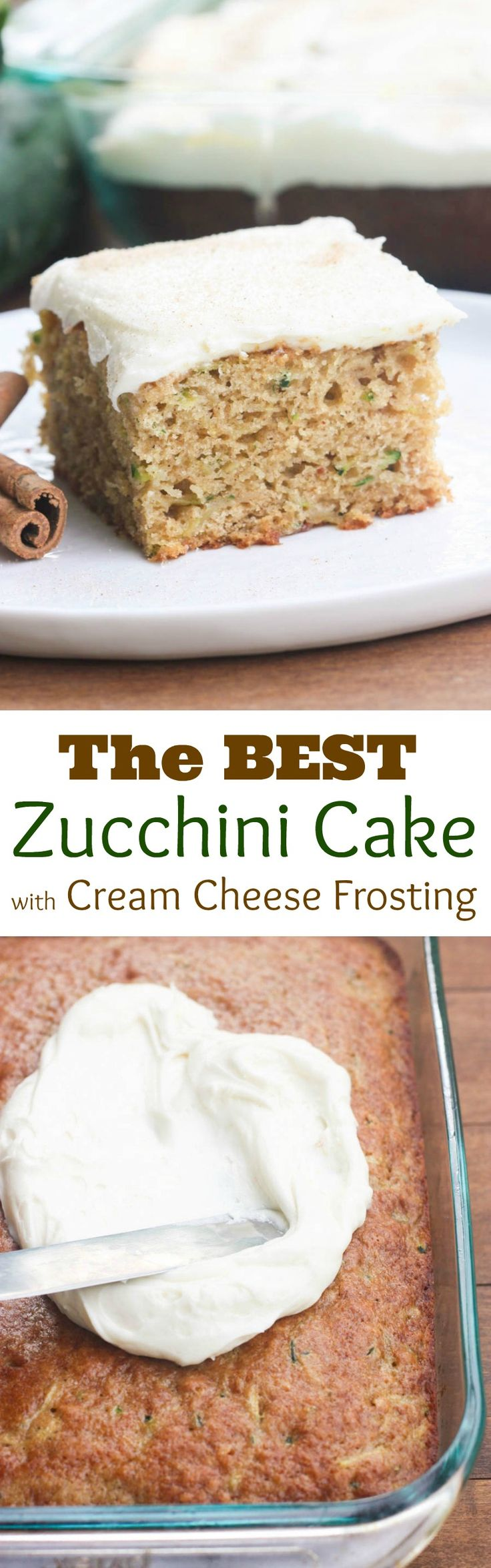 The BEST Zucchini Cake with Cream Cheese Frosting on MyRecipeMagic.com
